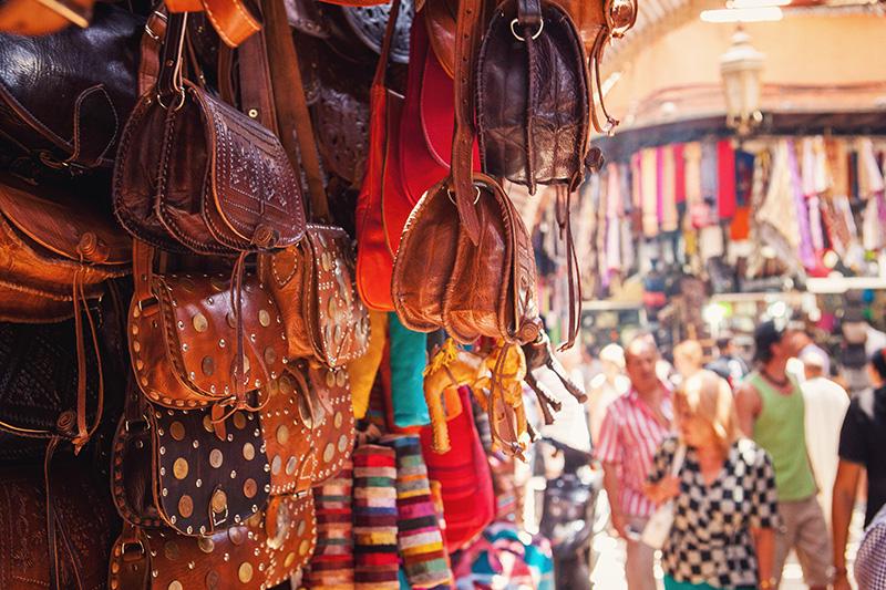 souk El Kebir maroquinerie marrakech