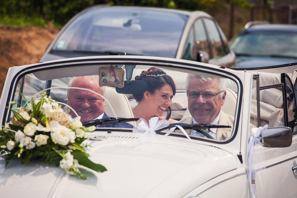 Mariage coccinelle mariée