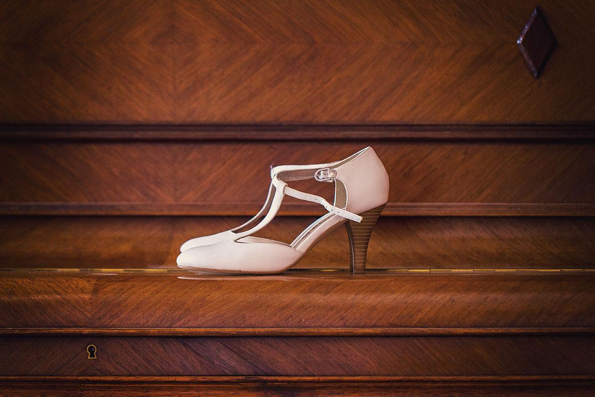 Mariage préparatifs mariée chaussures