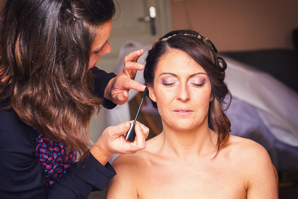 Mariage préparatifs maquillage
