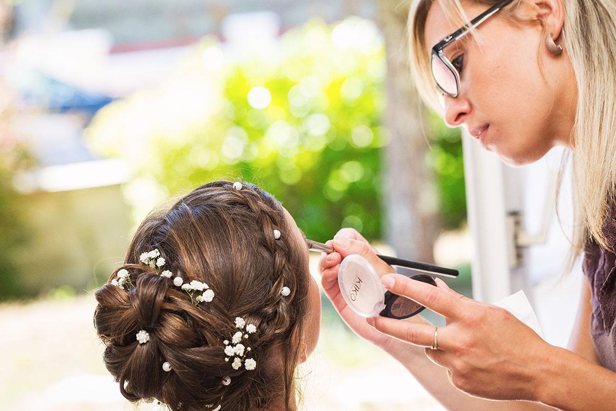 Mariage préparatifs mariée maquillage