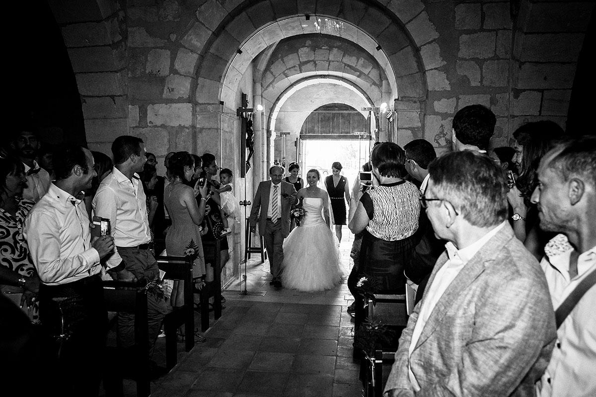 Mariage entrée église