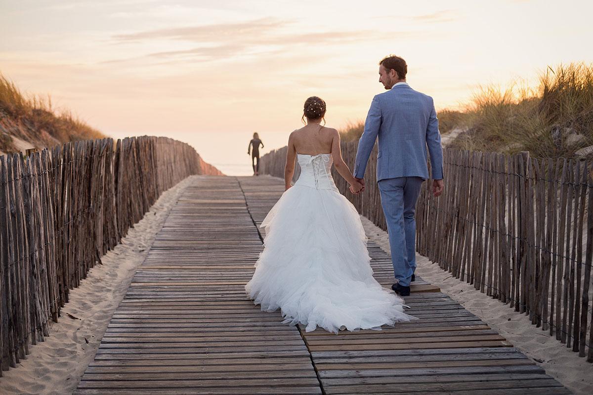 Mariage couple dune