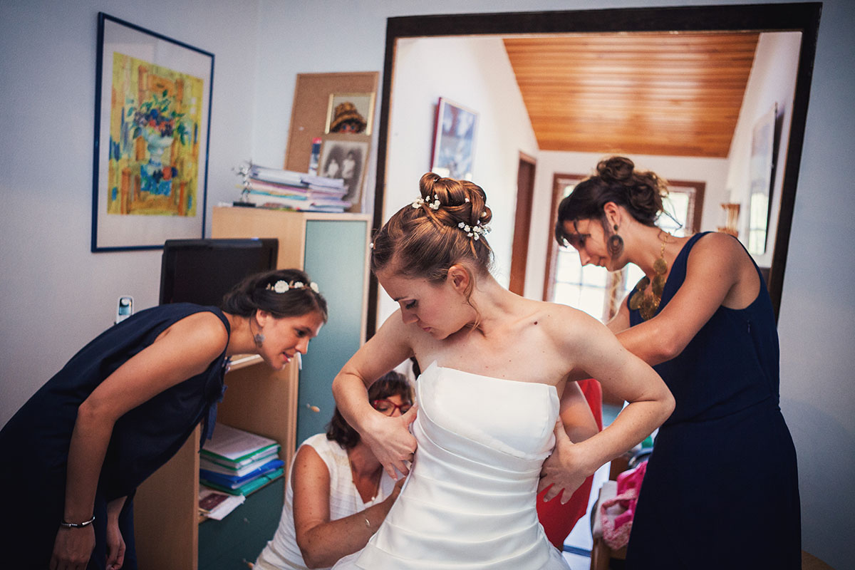 Mariage préparatifs mariée témoins