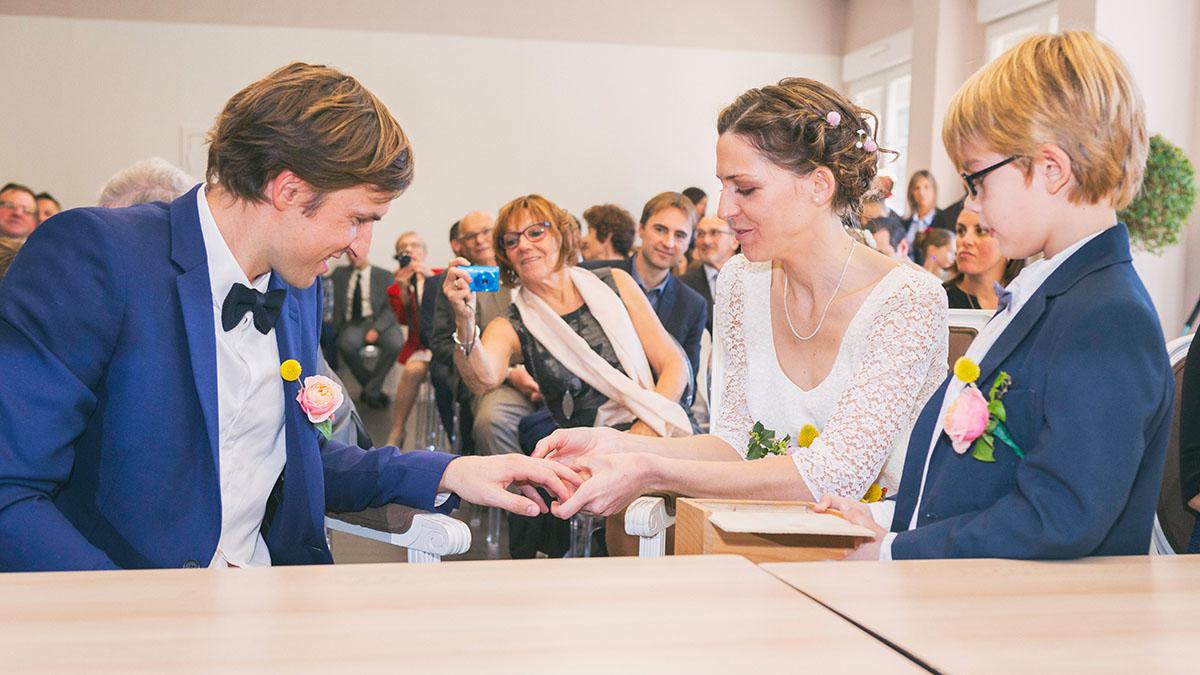 Mariage mairie échange