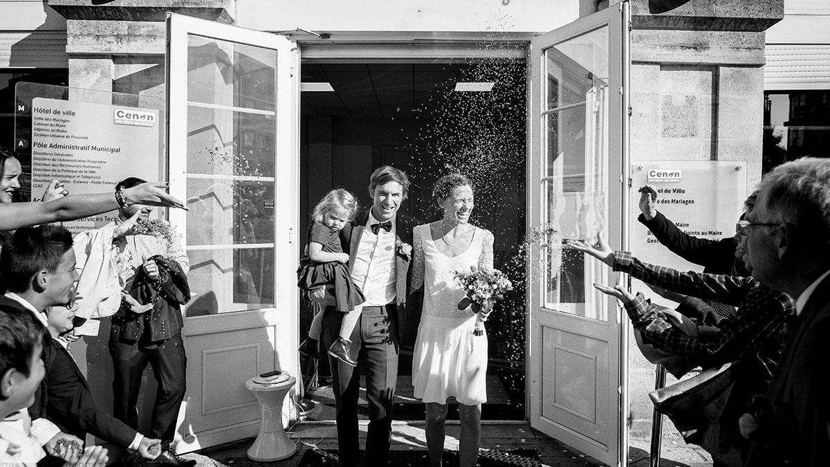 Mariage sortie mairie thym