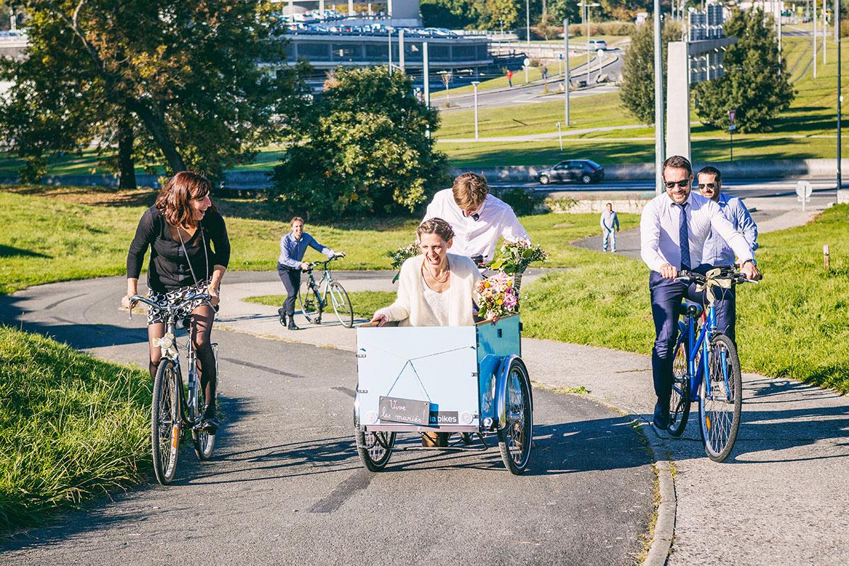Mariage mariés tricycle bordeaux palmer cenon