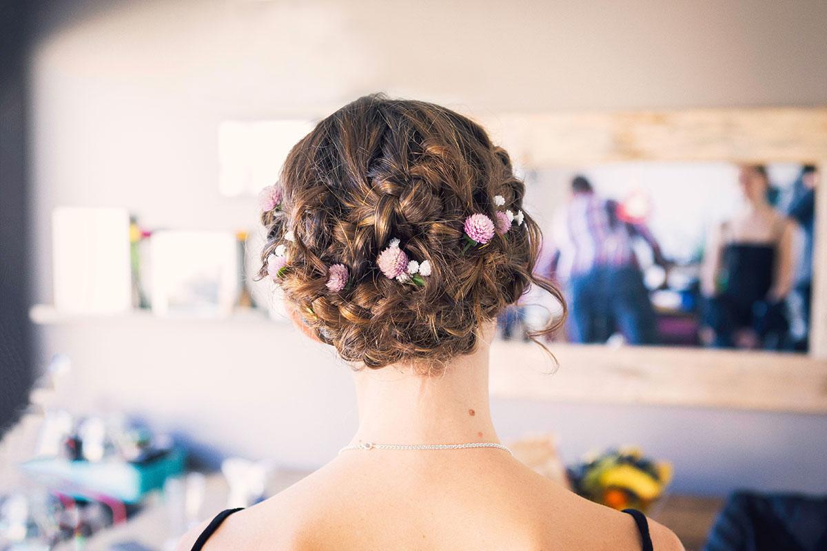 Mariage préparatifs mariée coiffure