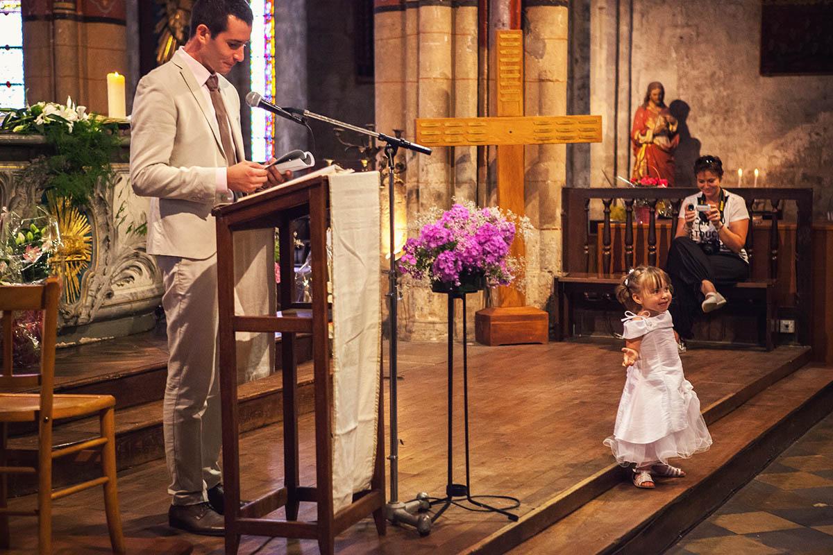 Mariage église discours enfant