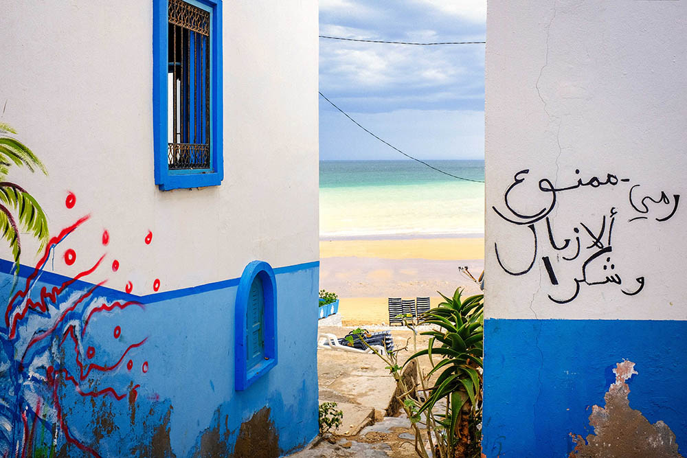 Maroc Taghazout Street photography blue