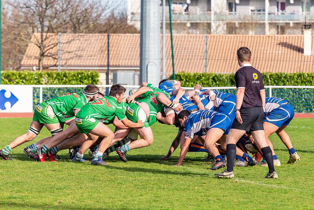 LRRA mélée rugby Lormont Hasparren