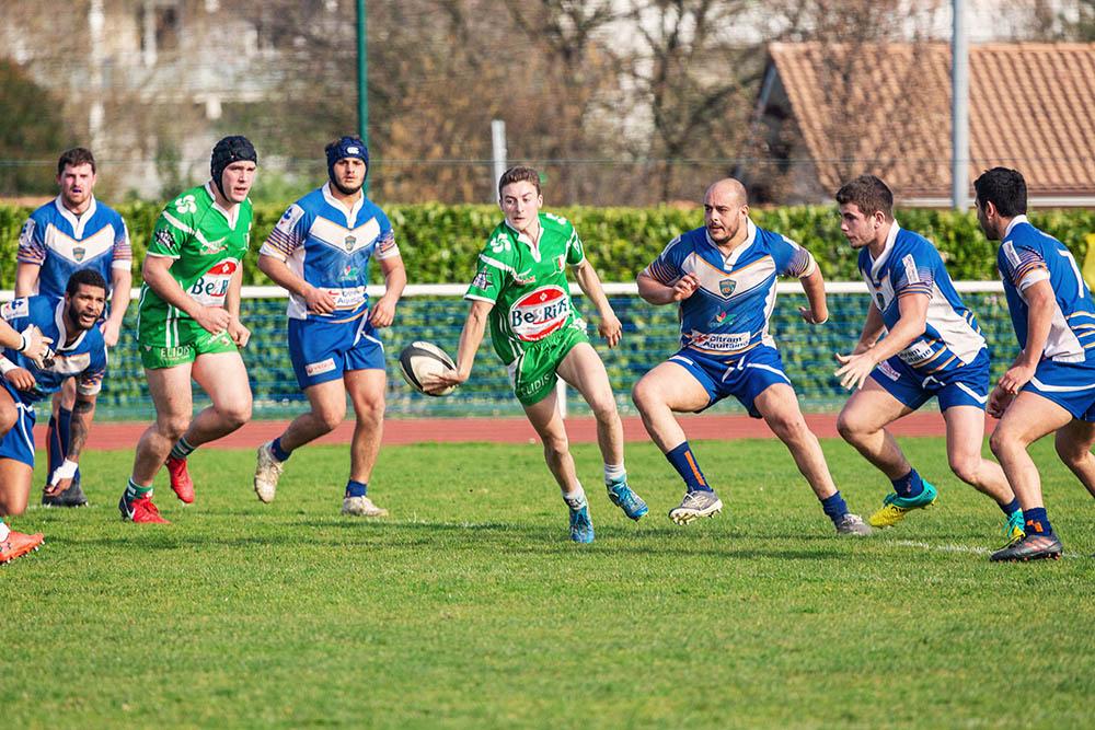 LRRA rugby chistera hasparren demi de mélée