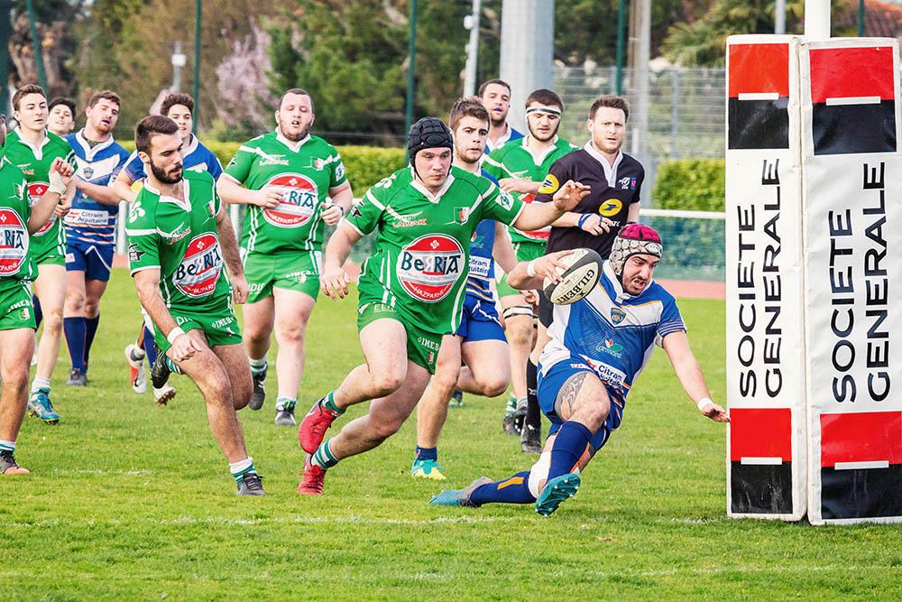 Ligue régionale de rugby d'aquitaine essai Lormont Hasparren