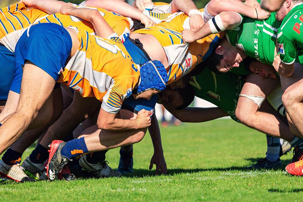 Lormont rugby équipe 2 dans la mélée LRRA